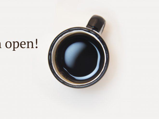We zijn open! | Zwartekoffie.nl